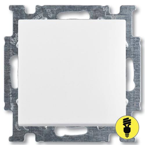 Выключатель ABB Basic 55 1-клавишный перекрестный (белый)