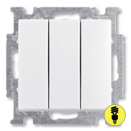 Выключатель ABB Basic 55 3-клавишный (белый)