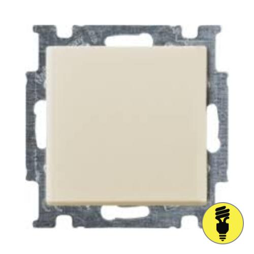 Выключатель ABB Basic 55 1-клавишный проходной (слоновая кость)