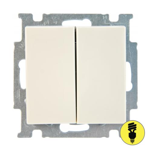 Выключатель ABB Basic 55 2-клавишный (слоновая кость)