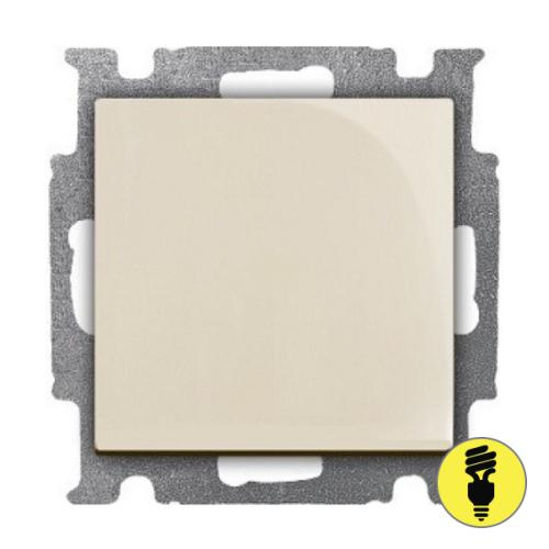 Выключатель ABB Basic 55 1-клавишный перекрестный (слоновая кость)
