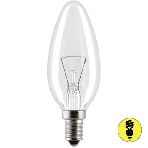 Лампа накаливания Е14 60 Вт свеча