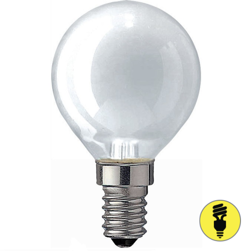 Лампа накаливания Е14 40 Вт шар матовый