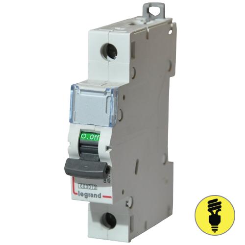 Автоматический выключатель Legrand C 6А 1P 404025