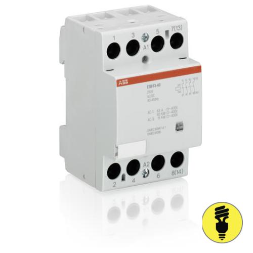 Модульный контактор АВВ ESB 63-40-230 AC/DC