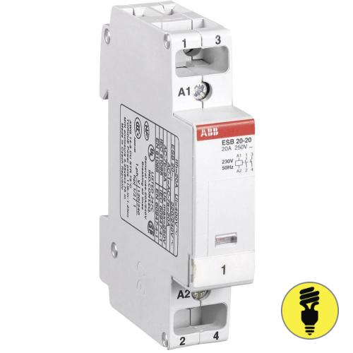 Модульный контактор АВВ ESB 20-20 230V 50Hz / 264V 60Hz