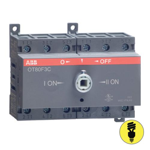 Реверсивный выключатель нагрузки АВВ OT80F3C 3P 80A