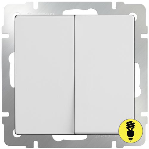 WL01-SW-2G / Выключатель 2-клавишный Werkel, Белый