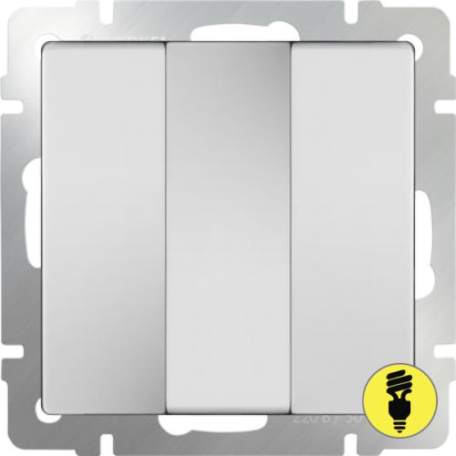 WL01-SW-3G / Выключатель 3-клавишный Werkel, Белый