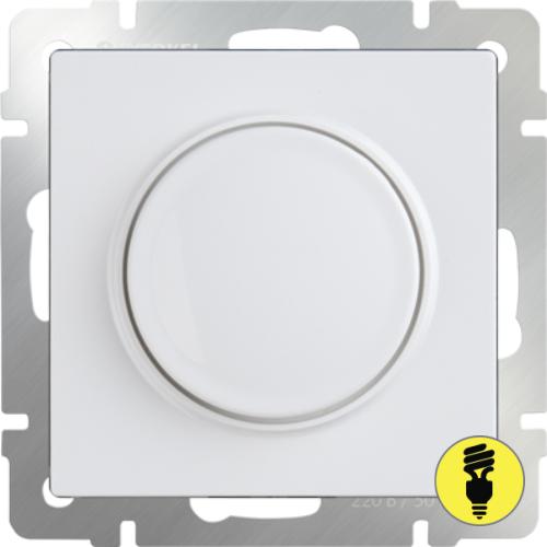 WL01-DM600 / Светорегулятор поворотный 600 Вт, Werkel, Белый