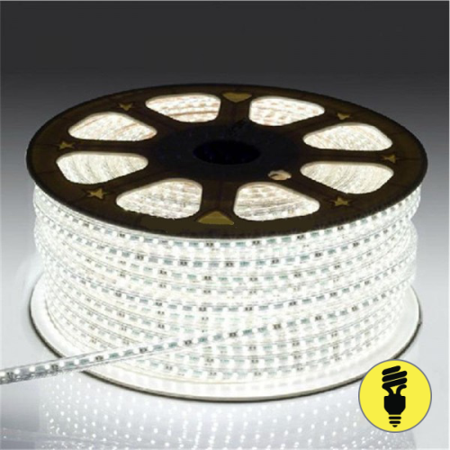 Светодиодная лента 220V SMD5050 60 LED IP 68 Холодный белый