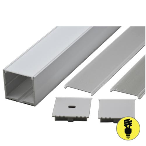 Алюминиевый профиль для светодиодной ленты 50х50х2000