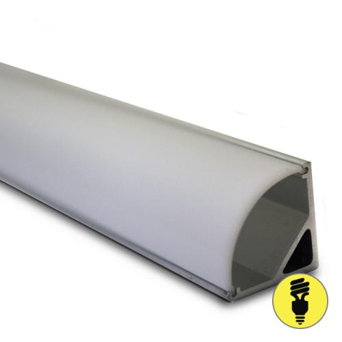 Алюминиевый профиль для светодиодной ленты 16х16х2000
