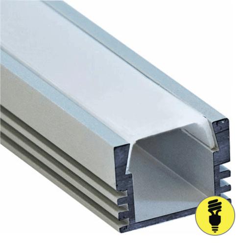 Алюминиевый профиль для светодиодной ленты 16х12х2000