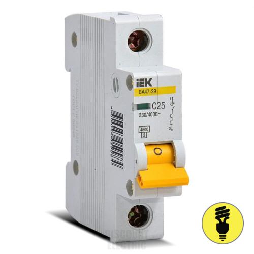 Автоматический выключатель IEK ВА47-29 1P 25А