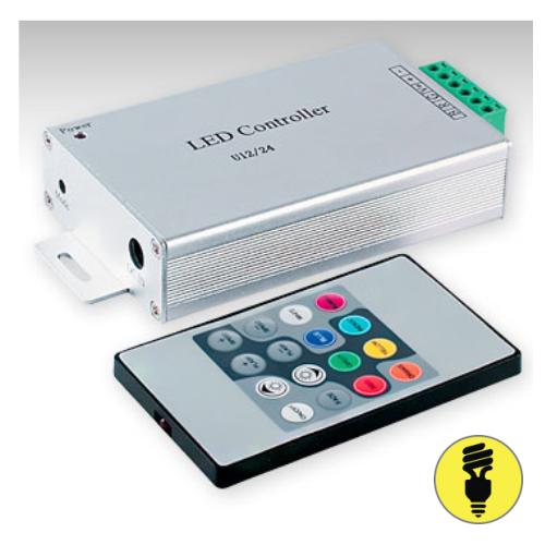 RGB контроллер для светодиодной ленты 3 канала, 12 А, (144W/288W(12V/24V))