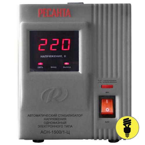 Электронный стабилизатор напряжения РЕСАНТА АСН-1500/1-Ц