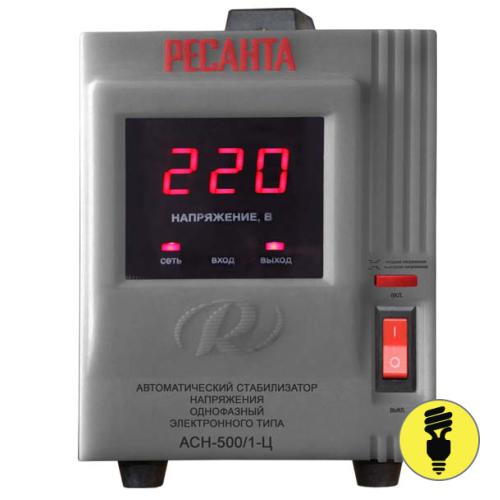 Электронный стабилизатор напряжения РЕСАНТА АСН-500/1-Ц