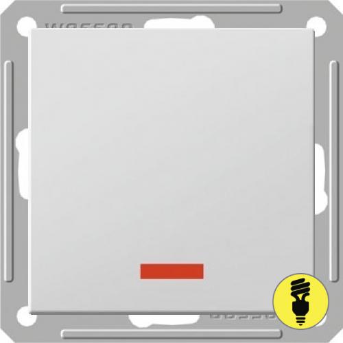 Выключатель Wessen 59 1-клавишный с подсветкой белый
