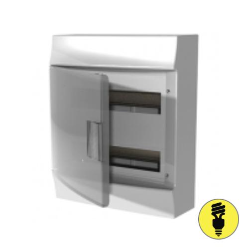 Бокс настенный АВВ Mistral41 36(2х18)М прозрачная дверь с клеммным блоком