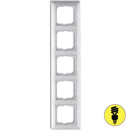 Рамка ABB Basic 55 5-постовая - белая