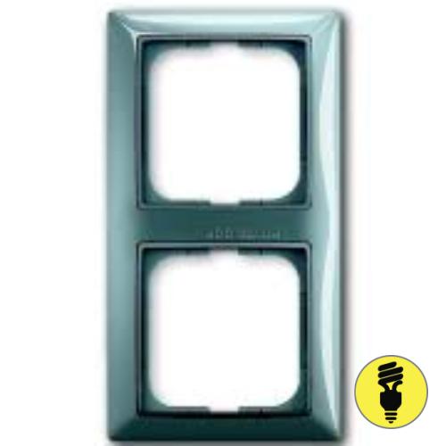 Рамка ABB Basic 55 2-постовая - бистро (голубой)