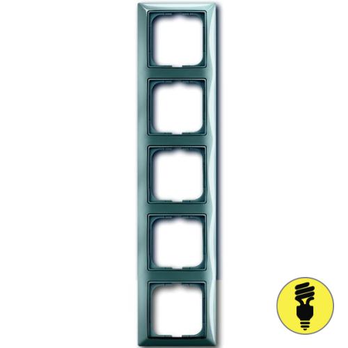 Рамка ABB Basic 55 5-постовая - бистро (голубой)