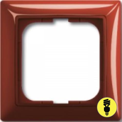 Рамка ABB Basic 55 1-постовая - фойе (красный)