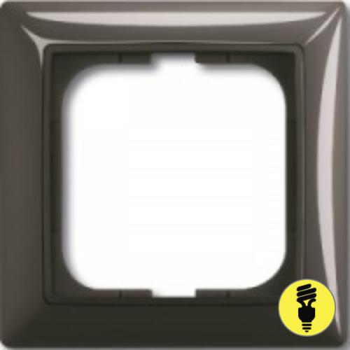 Рамка ABB Basic 55 1-постовая - шато (черный)