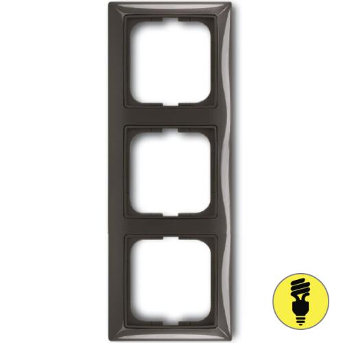 Рамка ABB Basic 55 3-постовая - шато (черный)