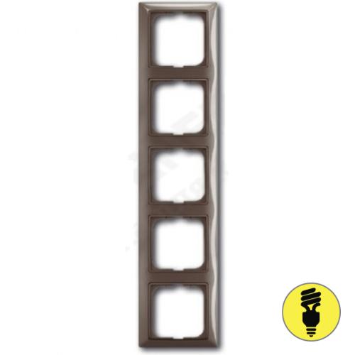 Рамка ABB Basic 55 5-постовая - энтре (серый)