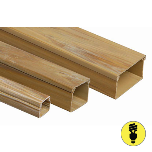 Кабель-канал T-Plast 20х10 текстура дерева, орех светлый