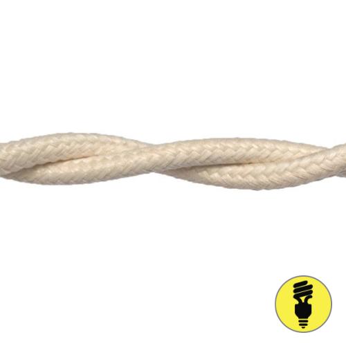 Ретро провод 2х1,5 Слоновая кость