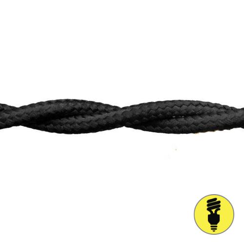 Ретро провод 2х1,5 Черный