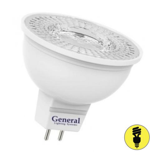 Светодиодная лампа General 7Вт MR16 GU5.3 3000К