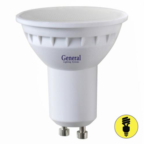 Светодиодная лампа General 7Вт MR16 GU10 3000К