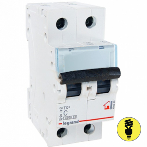 Автоматический выключатель Legrand TX3 C 20А 2P 404043