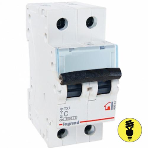 Автоматический выключатель Legrand TX3 C 50А 2P 404047