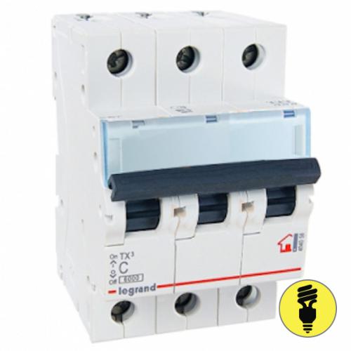 Автоматический выключатель Legrand TX3 C 20А 3P 404057