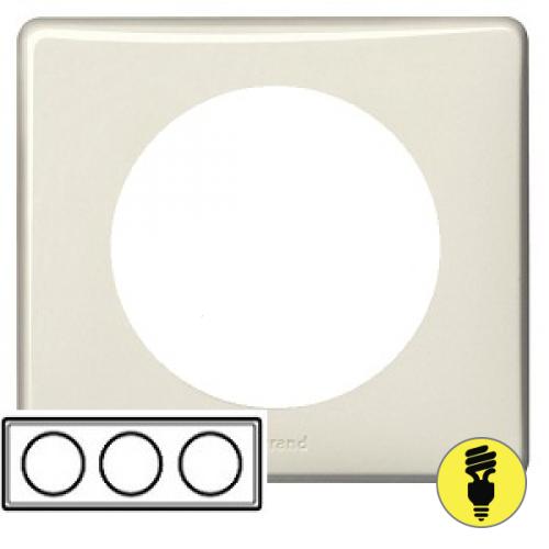 Рамка Legrand Celiane 3-постовая слоновая кость 068693