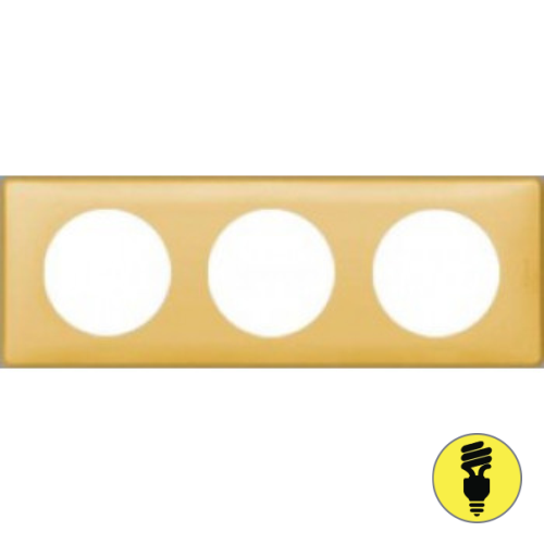 Рамка Legrand Celiane 3-постовая шафран 068673