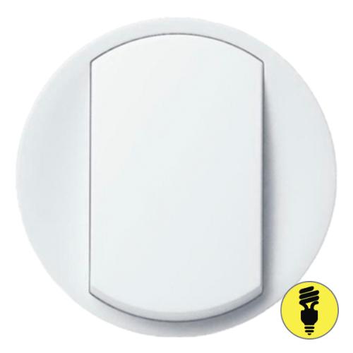 Лицевая панель для выключателя (переключателя) Legrand Celiane белая, 68001