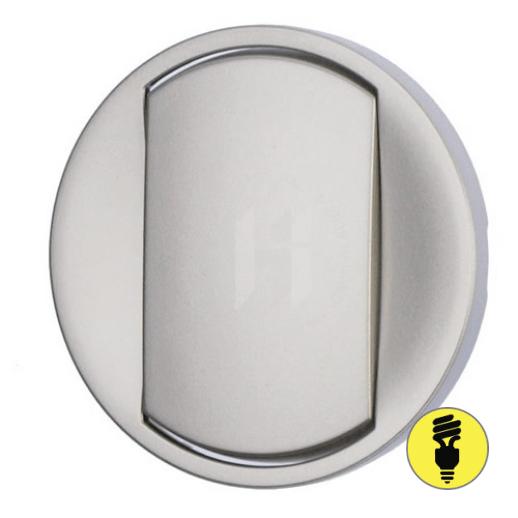 Лицевая панель для выключателя (переключателя) Legrand Celiane титан, 68301