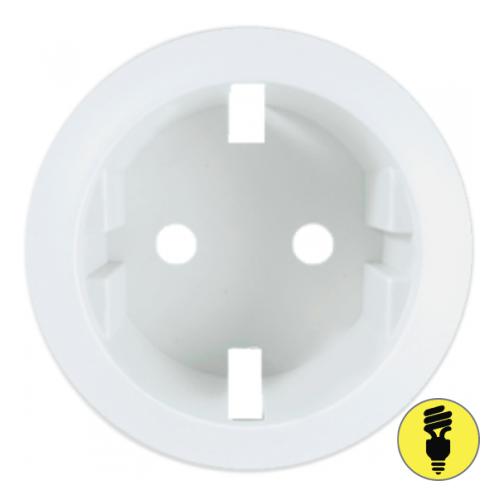 Лицевая панель для розетки Legrand Celiane безвинтовой зажим, белая, 68131