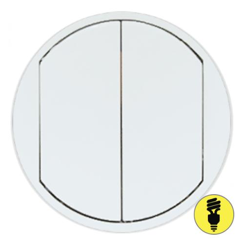 Лицевая панель для выключателя Legrand Celiane 2-кл белая, 68002