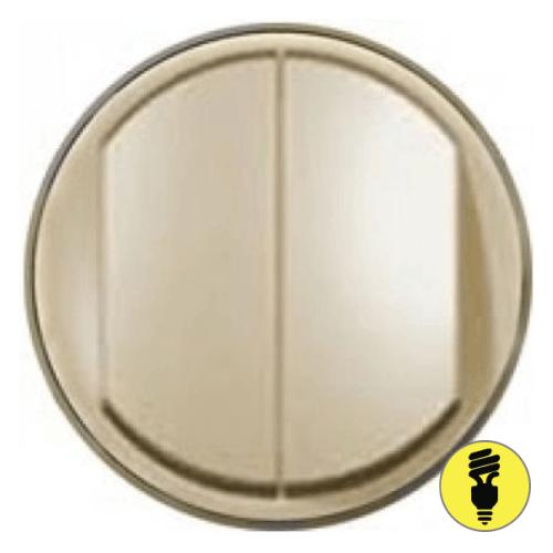 Лицевая панель для выключателя Legrand Celiane 2-кл слоновая кость, 66201