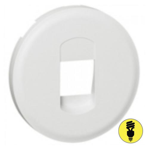 Лицевая панель для акустической розетки Legrand Celiane белая, 68211