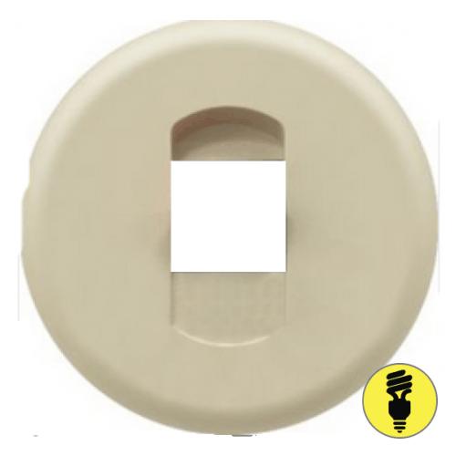 Лицевая панель для акустической розетки Legrand Celiane слоновая кость, 66240
