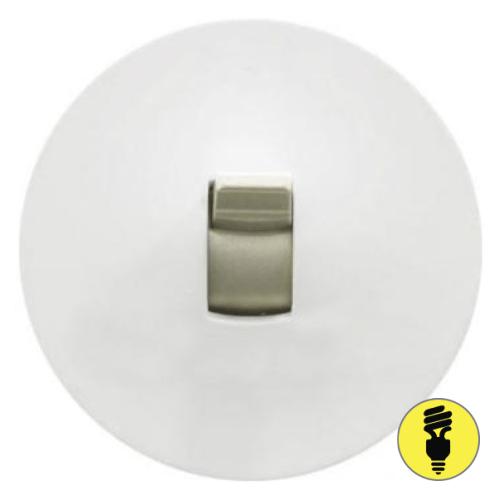 Лицевая панель для выключателя рычажкового Legrand Celiane белая, 68016