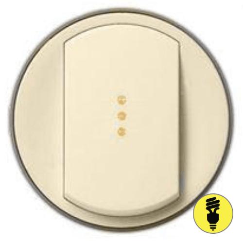 Лицевая панель для выключателя Legrand Celiane подсветка, слоновая кость, 66210